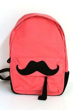 Mustache backpack!!!