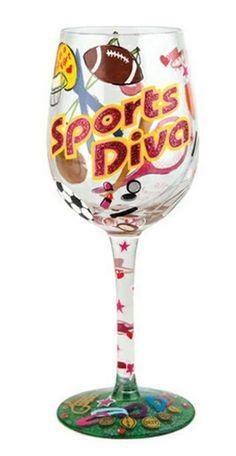 20207f8ddfdf Sports Diva Wine Glass by Lolita