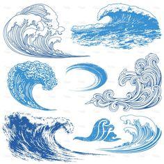 Wave Elements stock vector art 12668802 - iStock