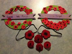 Anzac Day craft - felt poppy headbands, felt poppy badges and ...