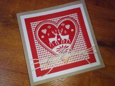 Kika's Designs : Set of Christmas cards in red and white