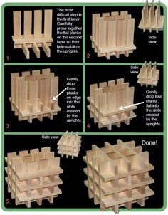 Keva planks seem simple: they're wooden blocks. But like Lego, from these unassuming pieces, wondrous creations arise Wooden Building Blocks, Wooden Blocks, Craft Stick Crafts, Diy And Crafts, Craft Sticks, Diy For Kids, Crafts For Kids, Cardboard Crafts Kids, Jenga Blocks
