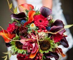 Rich and vibrant bridal bouquet