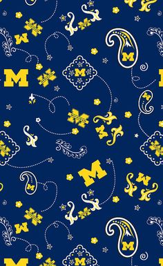 University of Michigan Collegiate Logo by CottonBlossomFarm, $10.00