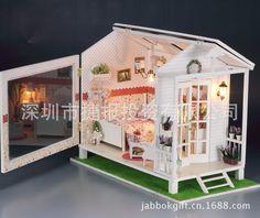 Творческий деревянные игрушки сделай сам дом любовь море дом, модель строительство комплект мебель кукольный дом игрушки для подаркакупить в магазине Fat Bear Family наAliExpress