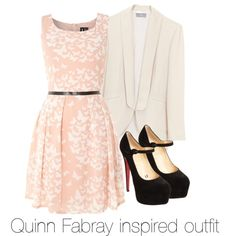 Quinn Fabray inspired outfit/Glee by tvdsarahmichele on Polyvore featuring Izabel London, Christian Louboutin, glee, quinnfabray and DiannaAgron