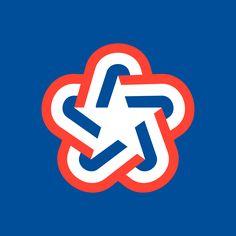 American Revolution Bicentennial (1976) — Designer: Bruce N. Blackburn; Firm: Chermayeff and Geismar, USA; Year: 1974