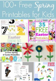 Keep the kids busy all season long with this list of over 100 free printables that are perfect for Spring. Games, hands-on activities and so much more!