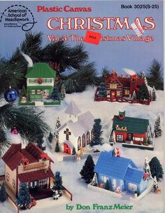 Vintage Plastic Canvas Christmas Village Pattern Book Vol. 3