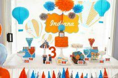 Hot air balloon party