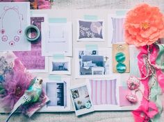 Mood board / Styling: Holly Becker / Photography: Close Focus Studios Business Branding, Planning Board, Wie Macht Man, New Crafts, Inspiration Wall, Panel, Good Mood, Mood Boards, Cool Designs