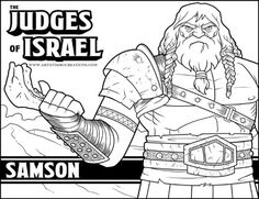 the judges of israel samson - Bible Coloring Pages For Kids