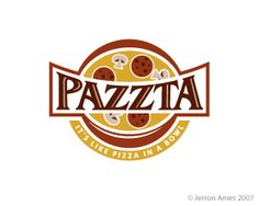 Here's a collection of tastiest pizza logo designs which serve as a great example of creative logo design for building the identity of your pizzeria. Logo Pizzeria, Pizza Restaurant, Pizza Branding, Pizza Logo, Pizza Box Design, Food Logos, Senior Project, Printable Labels, Monogram Logo