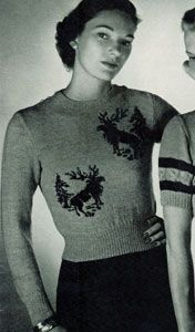 NEW! Classic Pullover knit pattern from Jack Frost, Volume No. 53, originally published in 1951.