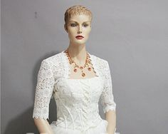 Bridal Wedding Bolero Jacket Shrug High Grade Lace