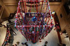 Yarn Bombing at Cincinnati Art Museum