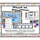This game was designed as a practice for solving algebraic equations.  Students will be practicing their skills of solving equations while competin...