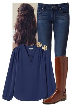 """""""I have no idea what to call this. Comment ideas if you want."""" by sydneymellark ❤ liked on Polyvore featuring Paige Denim, Rebecca Taylor, Tory Burch and fallfashion"""