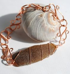 Wire Wrapped Jewelry Sea Glass Jewelry Sea Glass by MommysDream, $42.00  #hollerh