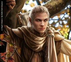 Celeborn by Magali Villeneuve.  He was husband to Galadriel and gather to Celebrían.