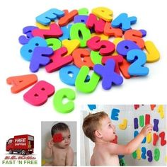 36 Pcs Toy Kids Numbers Letters Skill Stick Bathtub Baby Easy Bath Time Fun Play #Munchkin
