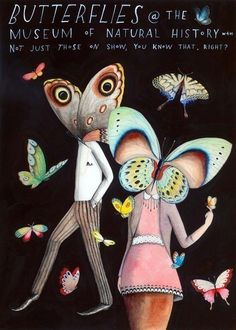 Butterflies at the Museum by SophieBlackall on Etsy, $45.00