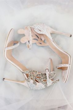 Gorgeous blush and crystal heels