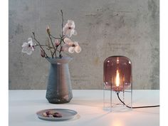 #Lighting Trend from #MDW2015: Colored glass + Visible Filament. Love the ODA light from Pulpo