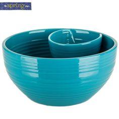 Blue Chip & Dip Bowl