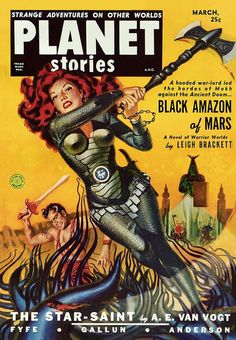 """Black Amazon of Mars"" (1951) by Book Covers: Mars Sci-Fi, Vintage Sexy Paperbacks, via Flickr"