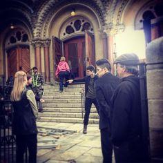 Malec behind the scenes