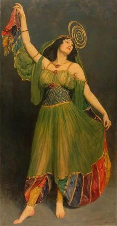 "Belly Dance: ""The #Dancer,"" by John Collier."