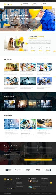Facto is a classic, modern and fully responsive WordPress theme for industrial business and factory outlet, designed with latest HTML5 and CSS3 code for a powerful performance