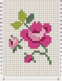 Σχέδια για βελονιά πόντου / Duplicate stitch patterns                                   πηγή /  source     ...