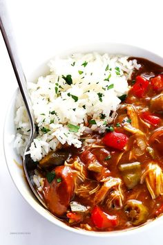 My All-Time Favorite Gumbo Recipe -- made with chicken and andouille sausage, and full of the best flavor!   gimmesomeoven.com