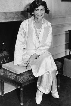 Circa 1923 - Coco Chanel in pyjamas