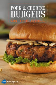 Not your typical burger, this Cuban-style recipe has chorizo, creamy Thousand Island dressing and shoestring potatoes. Plus, it's easy to make for a crowd. Serve w/ a salad of marinated tomatoes & cucumbers w/ avocado chunks in a lime vinaigrette.