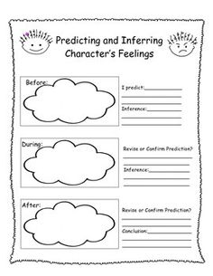 Predicting, Inferring, Character Traits, and Drawing Conclusions graphic organizer or can be used as an anchor chart. Freebie!