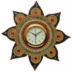 Shilp-Kala Handcrafted Multi Colored Handmade Wall Clock  http://goo.gl/xBwvrQ