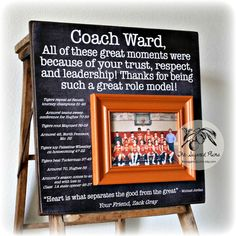 Coaches Gift Custom Personalized Gift for Coach por thesugaredplums
