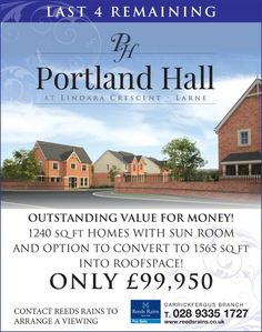 New Homes and New Developments for sale in Larne, Northern Ireland New Home Developments, Apartments For Sale, New Builds, Northern Ireland, Sunroom, Portland, New Homes, Building, Sunrooms