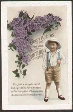 Boy with Flowers and poem