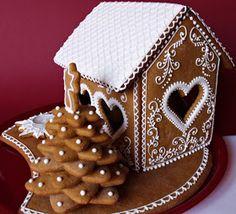 Citromhab: Mézeskalács házikó Gingerbread House Designs, Gingerbread Village, Christmas Gingerbread House, Gingerbread Cake, Christmas Themed Cake, Christmas Sweets, Christmas Goodies, Christmas Diy, Xmas