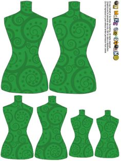 """un autre modèle de """"torso tags"""", dans un autre ton de vert..."""