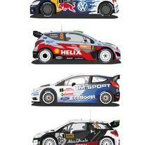 Vectores coches WRC 2015