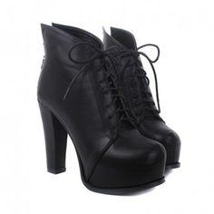 Fashion Lace-Up and Zipper Design Short Boots dresslily.com