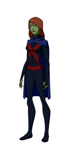 Miss Martian of Young Justice Dc Comics Women, Dc Comics Art, Comics Girls, Marvel Dc Comics, Young Justice Characters, Dc Comics Characters, Superhero Characters, Miss Martian, The Martian