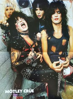 The Crüe one of the most underrated metal bands of all time. Metal Bands, Rock Bands, Vince Neil, We Will Rock You, Glam Metal, Star Wars, 80s Rock, Tommy Lee, Nikki Sixx
