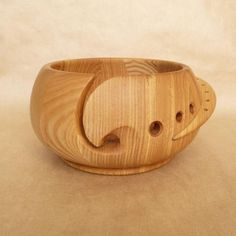 Large Size 6 X 3 Durable and Portable Yarn Storage for Knitters Beautiful Gift on All Occasions Eximious India Wooden Yarn Bowl for Knitting and Crochet
