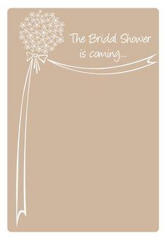Bridal Shower Is Coming - Free Printable Bridal Shower Invitation Template   Greetings Island